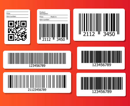 qrcode: Bar codes illustration.