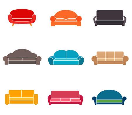 Sofa set illustration.