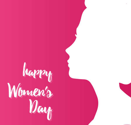 Happy women day. Ilustração