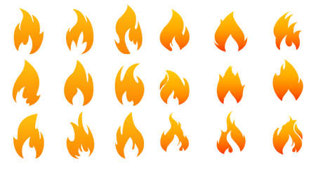 Collection of fire icons.
