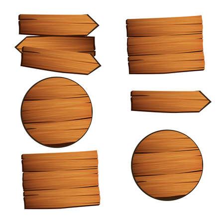 Wood table texture. Ilustração