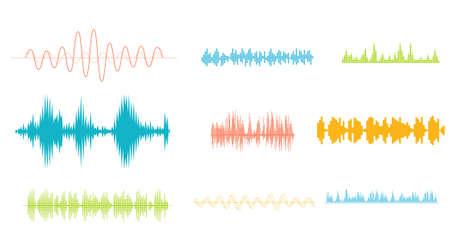 soundtrack: Sound wave equalizer illustration.