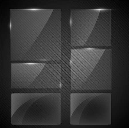 Black tile illustration. Ilustrace