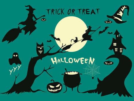 Geïsoleerd; Halloween; Spin; Trap; Vector; Holiday; Nacht; Spinneweb; Element; Zwart; Icoon; Illustratie; Oktober; Heks; Spinnenweb; Web; Ontwerp; Verschrikking; Knuppel; Eng; Pompoen; Helloween; haloween Stock Illustratie