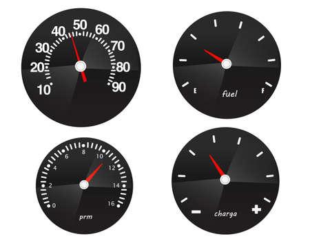 Car speed meter icons.