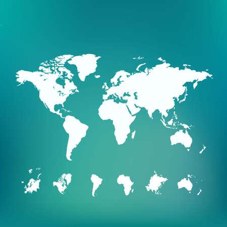 Stylized world map.