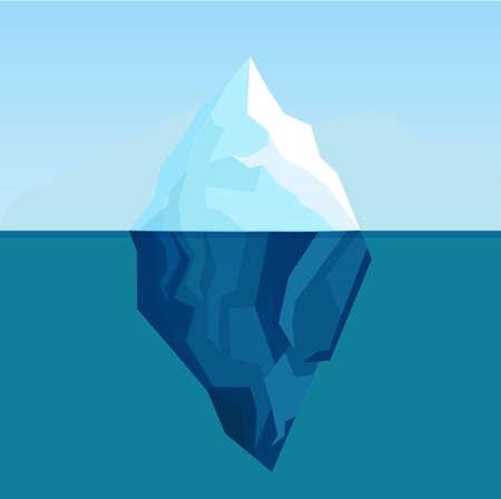 Vectro illustration of ice berg. 일러스트