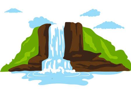 fall water Ilustração