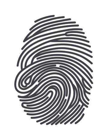 finger print Ilustração