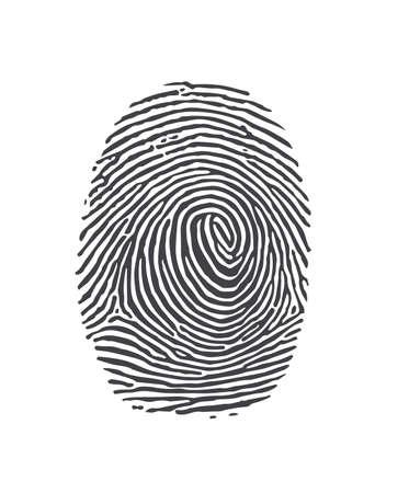 ide: finger print Illustration