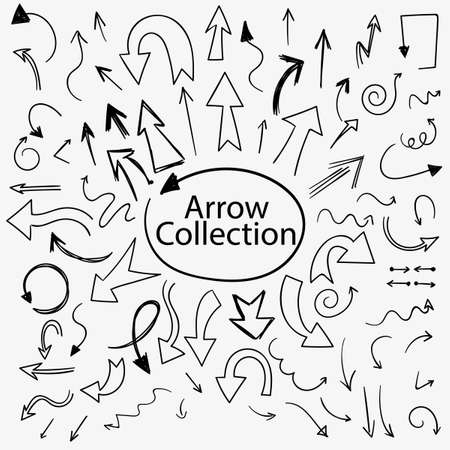 A set of arrows scattering in different directions
