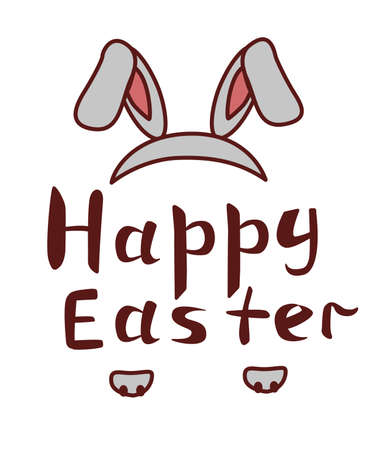 happy easter great illustrate with paw