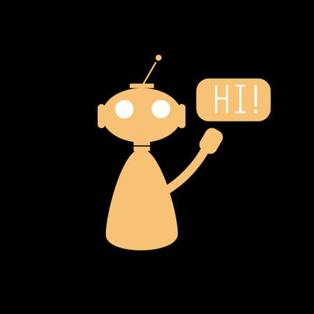 Chat bot icon for mobile devices