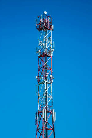 telecommunications equipment: Telecommunications equipment located on the tower