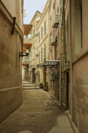 inner city: The streets of the inner city of Baku, Azerbaijan Editorial