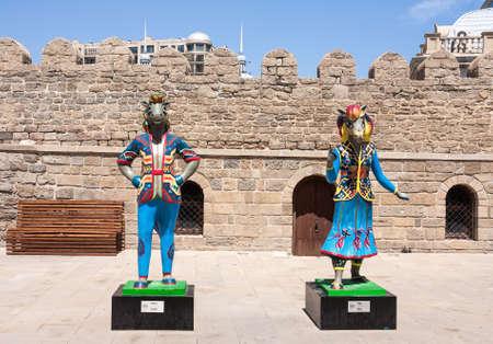 19 may 2017 Baku, Azerbaijan. Talisman IV Islamic solidarity games - Karabakh racehorses the Inje and Dzhasur Editorial