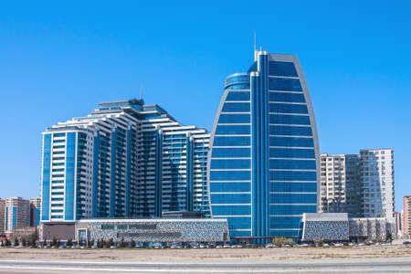 04 April 2017, Nobel Avenue, Baku, Azerbaijan. Business center of the Agur and the complex of buildings Editorial