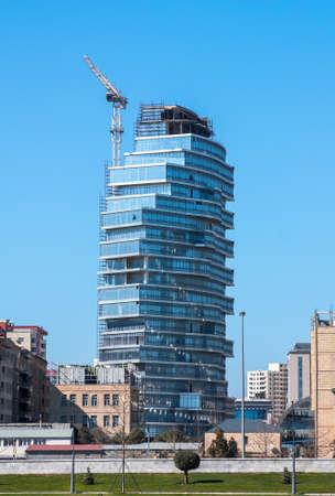 04 April 2017, Nobel Avenue, Baku, Azerbaijan. Complex of buildings