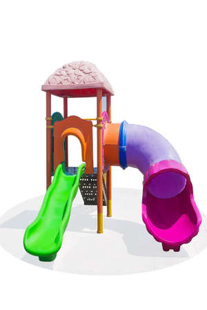 Children's playground in a park built for the development of people and Entertainment. Isolated. Zdjęcie Seryjne