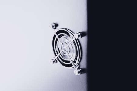 Cooling CPU cooler on a dark casing. Cooling fans are illuminated. Reklamní fotografie