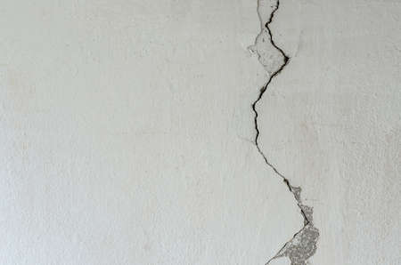 Cement surface crack. Caused by wrong construction