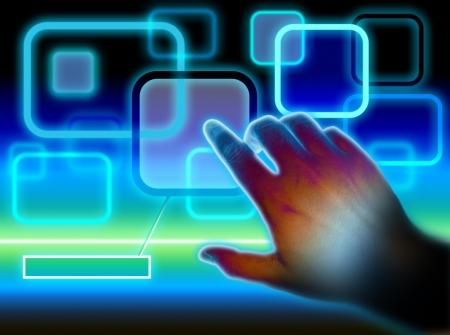 Touchscreen Interface Stock Photo