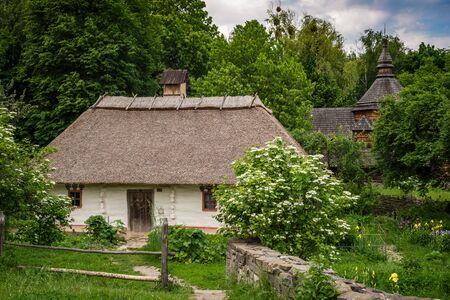 Beautiful scenery of the traditional ukrainian country village Banco de Imagens