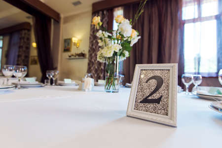 number plate: wedding table number plate
