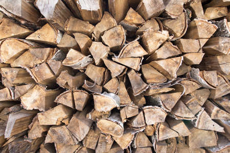 stacked: firewood stacked