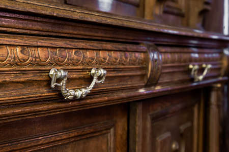 antique furniture: antique wood dresser with vintage furniture