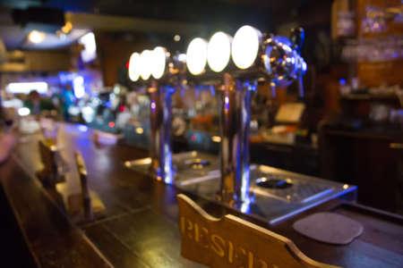 empty bar, blurred background