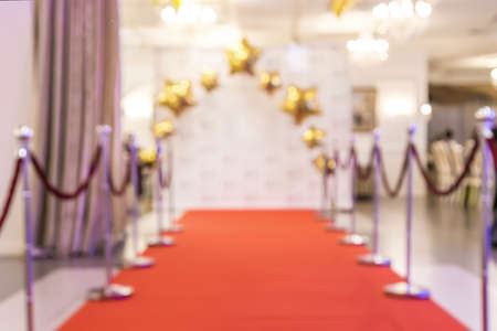 red carpet background: red carpet with the sides, blurred background