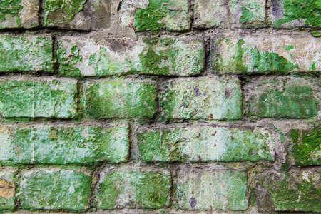 old brick wall: old green brick wall background