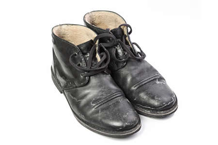 protruding: Winter mens shoes with a protruding salt