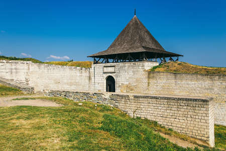 Medieval fortress in the Khotyn town West Ukraine. The castle is the seventh Wonder of Ukraine