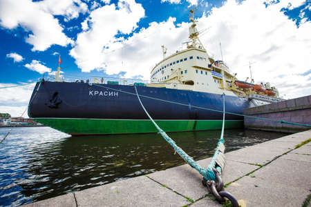 Icebreaker Krasin St. Petersburg on the Neva River, now it is a Museum. 24.09.2016 Russia Editorial