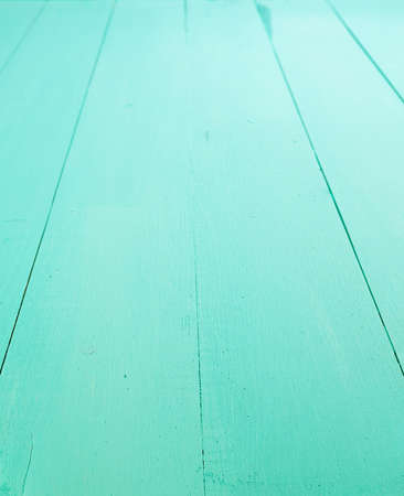 turquoise rough wooden background with horizontal boards Stock Photo
