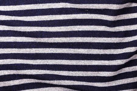 Fabric background stripes of a sailor, horizontal photo with horizontal stripes Stock Photo