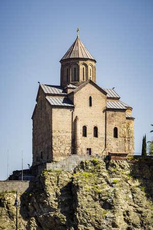 Sioni Cathedral Tbilisi, Sightseeing Tbilisi, Georgia. April 17, 2015 Reklamní fotografie