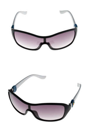 translucent red: A set childrens sunglasses isolated on white background. vertical photo Stock Photo