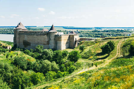 Medieval fortress in the Khotyn town West Ukraine. The castle is the seventh of Wonder of Ukraine.