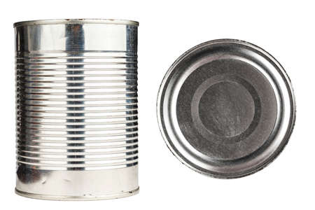 tin can on white background, isolated, canned from the store