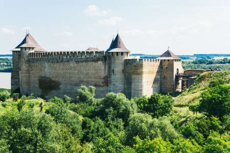 Medieval fortress in the Khotyn town West Ukraine. The castle is the seventh Wonder of Ukraine.  Editorial