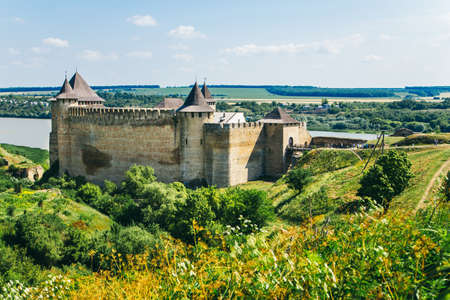 Medieval fortress in the Khotyn town West Ukraine June 27.2015 Khotyn. Ukraine