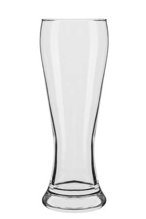 empty beer glass isolated on white background.