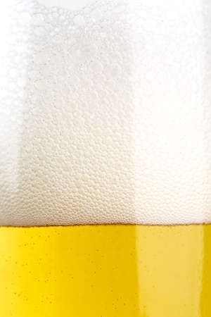 beer foam close-up. beer in a glass, place for text Stock Photo