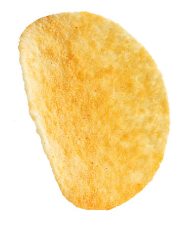 potato chips isolated on white background. place for text. traditional beer snack Reklamní fotografie