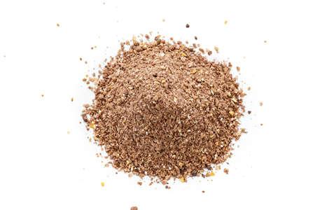 Groundbait used in feeder method in fishing to feed fish
