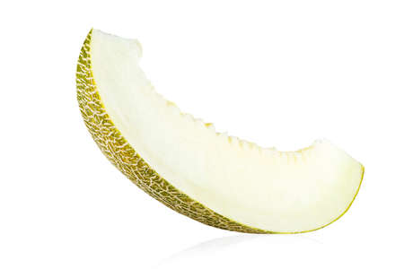 A slice of melon is insulated on a white background. file contains clipping path
