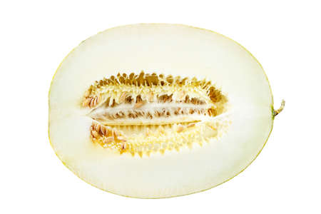 melon half isolated on white background. file contains clipping path
